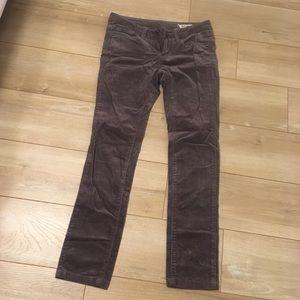 New! Soft Gray Corduroy CHOR Pants! Size 1